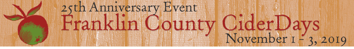 Franklin County Cider Days, November 1-3, 2019